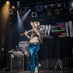 kamrah belly dancer with sword at chicago's raw