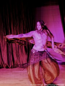 Dragon demon belly dancer at Raks Terror