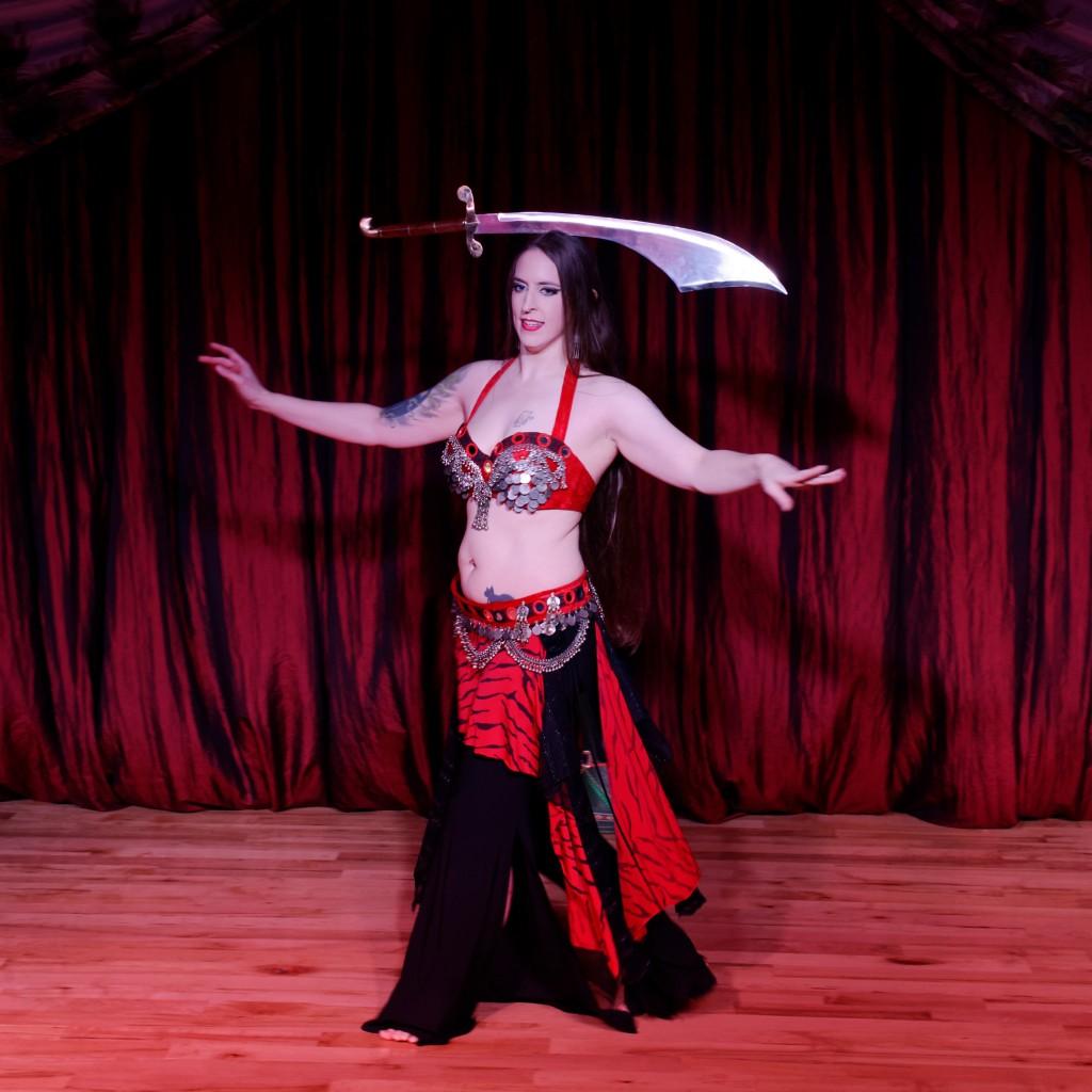 Kamrah belly dancer with sword
