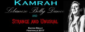 Male belly dancer Kamrah at Bayou Belly Festivale belly dance festival