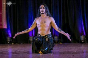 Male Belly Dancer Kamrah performing